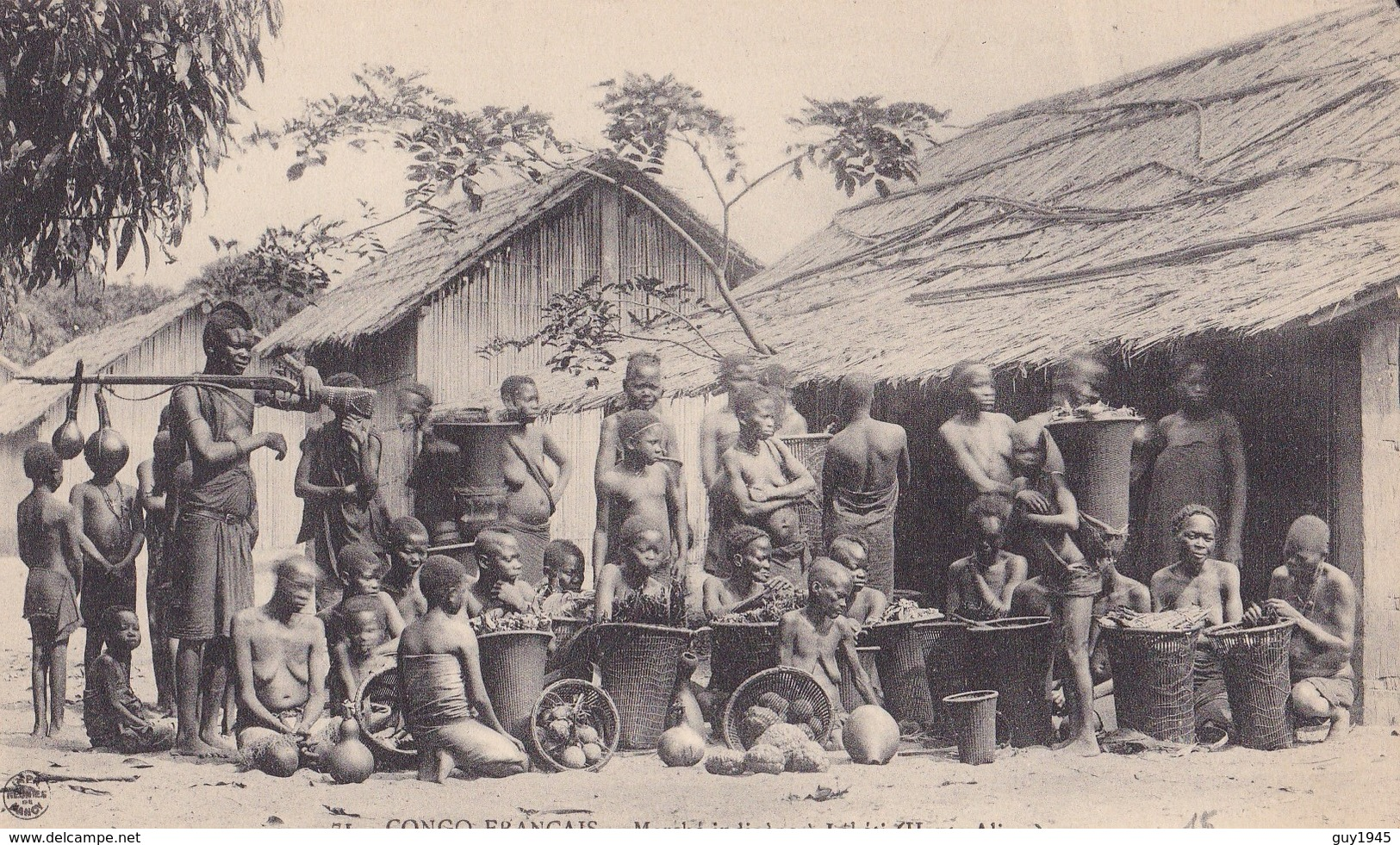 CONGO FRANCAIS N°71  Marché Indigènes LEKETI (Haute Alima ) - Congo Français - Autres