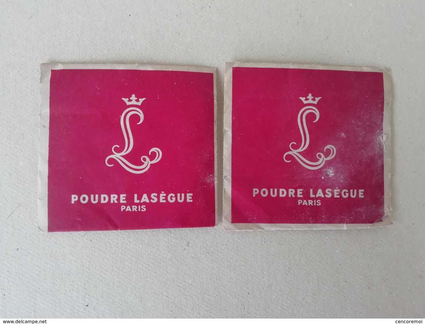 2 Sachets Anciens De Poudre Lasègue, Poudre Pour Le Teint Pour La Collection, échantillons Anciens De Cosmétique - Miniatures Anciennes (jusque 1960)