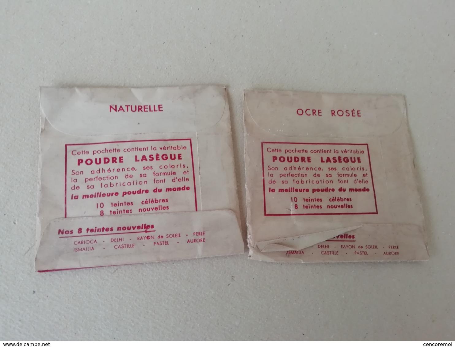 2 Sachets Anciens De Poudre Lasègue, Poudre Pour Le Teint Pour La Collection, échantillons Anciens De Cosmétique - Miniature Bottles (in Box)
