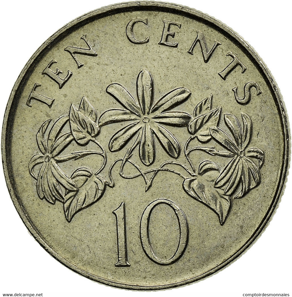 Monnaie, Singapour, 10 Cents, 2009, Singapore Mint, SUP, Copper-nickel, KM:100 - Singapour