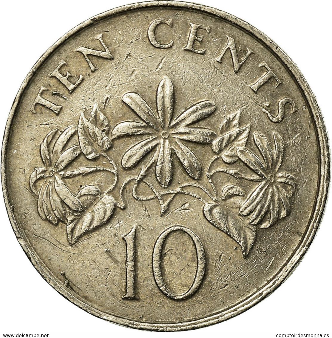 Monnaie, Singapour, 10 Cents, 1989, British Royal Mint, TB+, Copper-nickel - Singapour