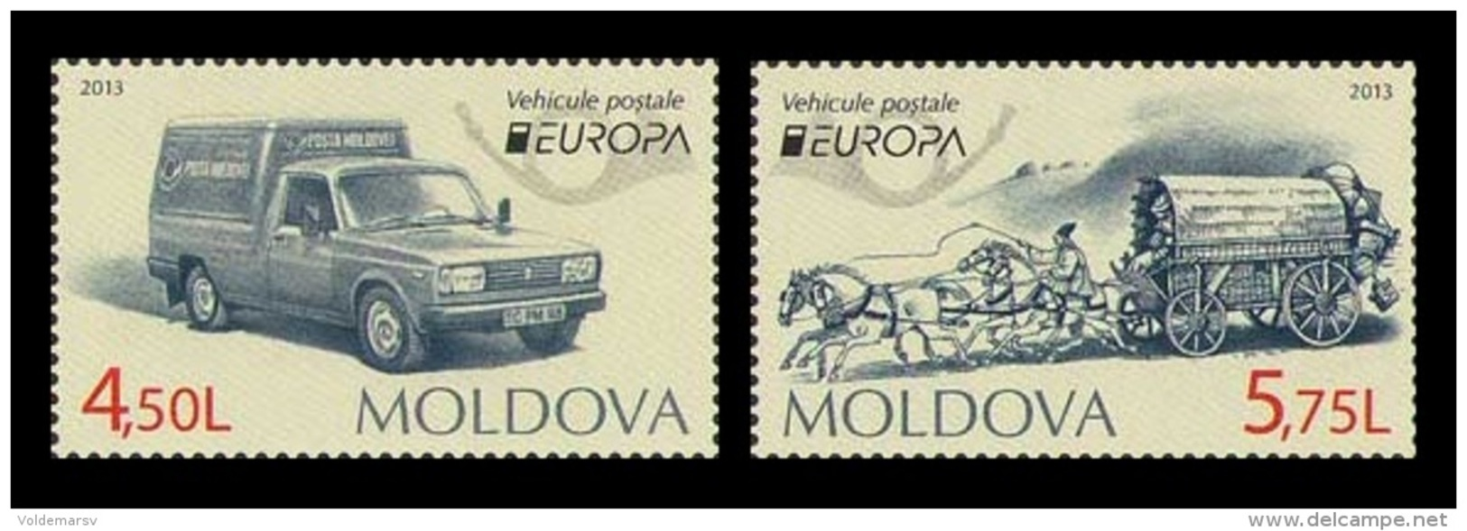 Moldova 2013 Mih. 829/30 Europa-Cept. Postal Means MNH ** - Moldawien (Moldau)