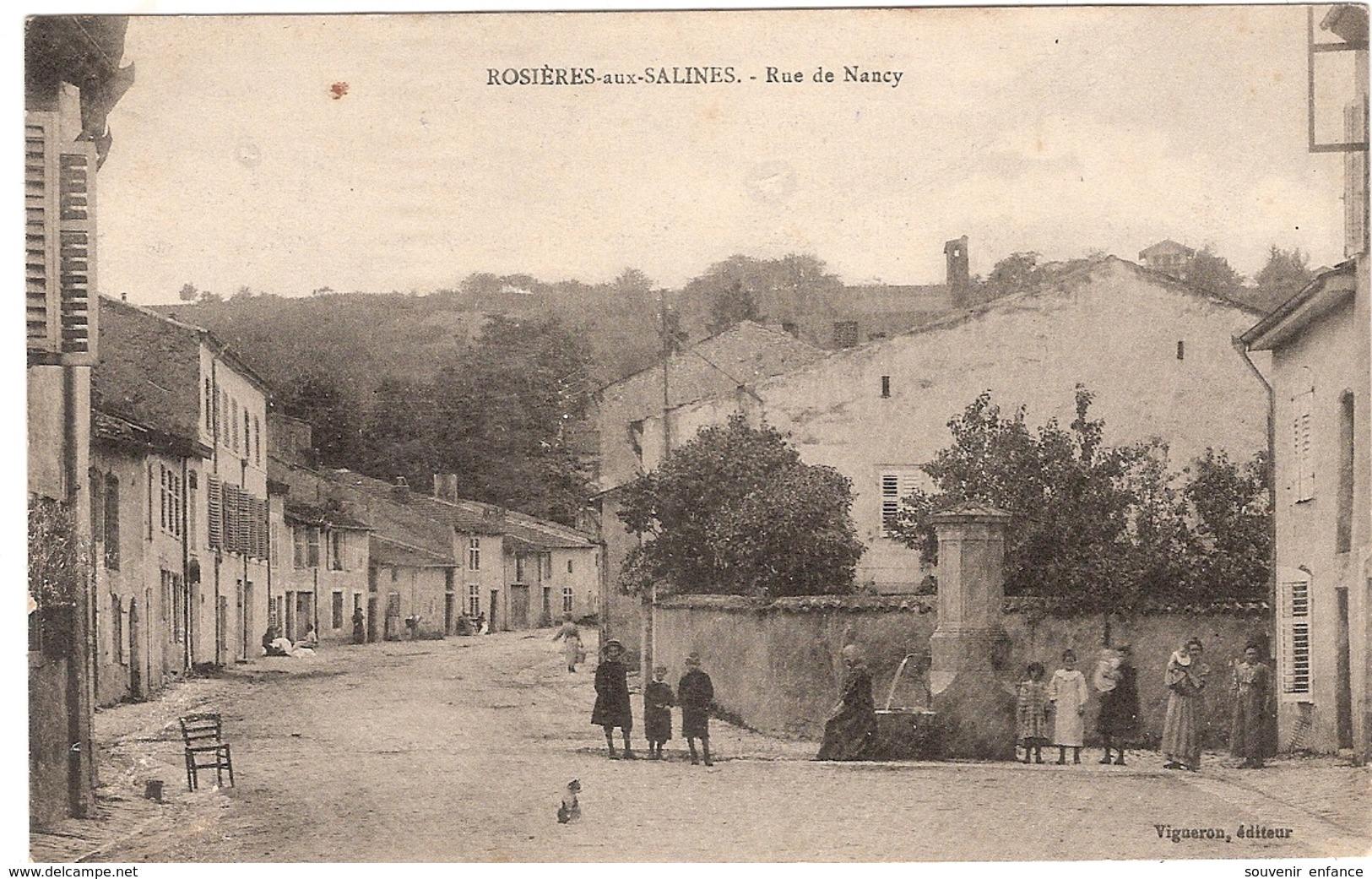 CPA Rosières Aux Salines Rue De Nancy 54 Meurthe Et Moselle - Sonstige Gemeinden
