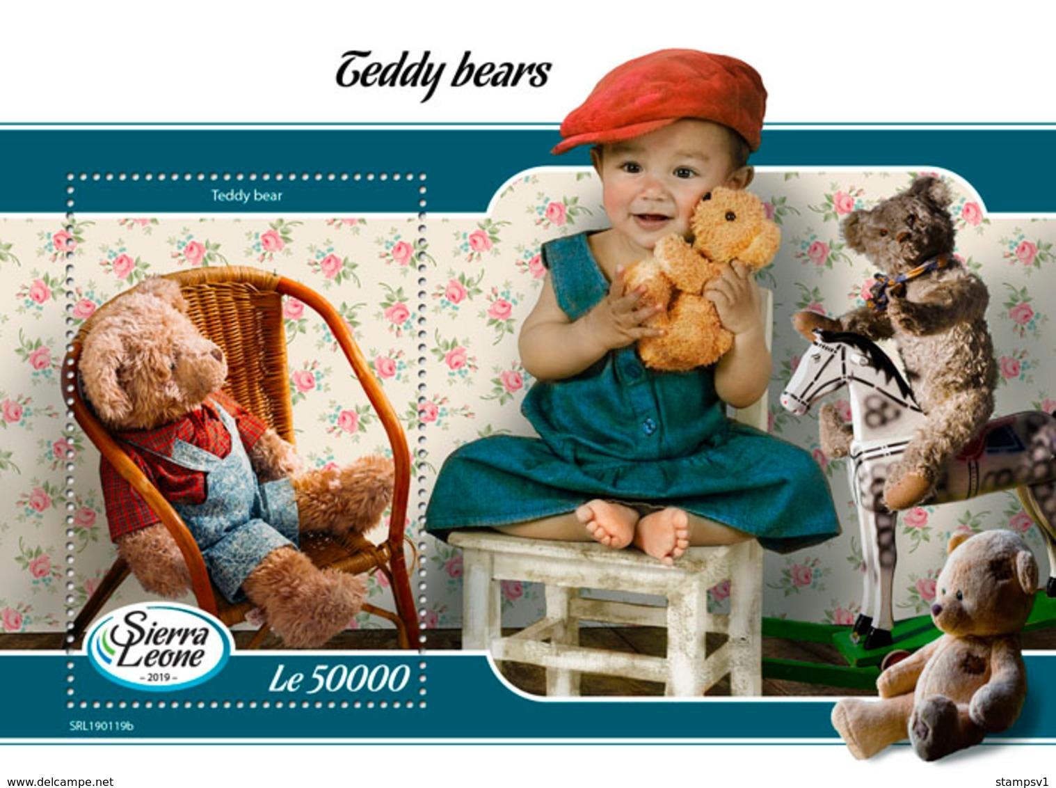 Sierra Leone. 2019 Teddy Bears. (0119b)  OFFICIAL ISSUE - Poupées