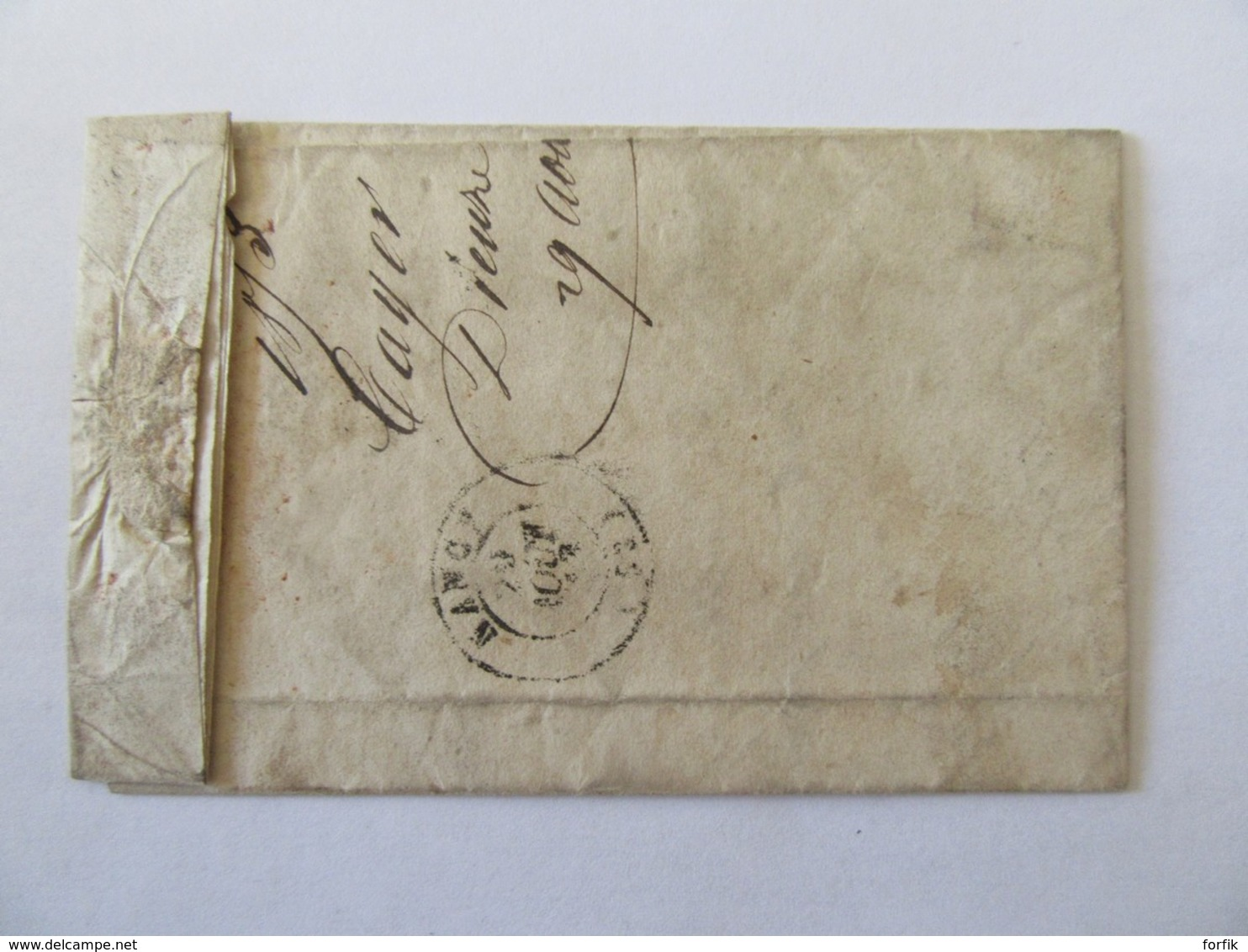 Lettre Dieuze Vers Nancy - Cachet Type 14 + Chiffre-taxe 25 - 1853 - Postmark Collection (Covers)