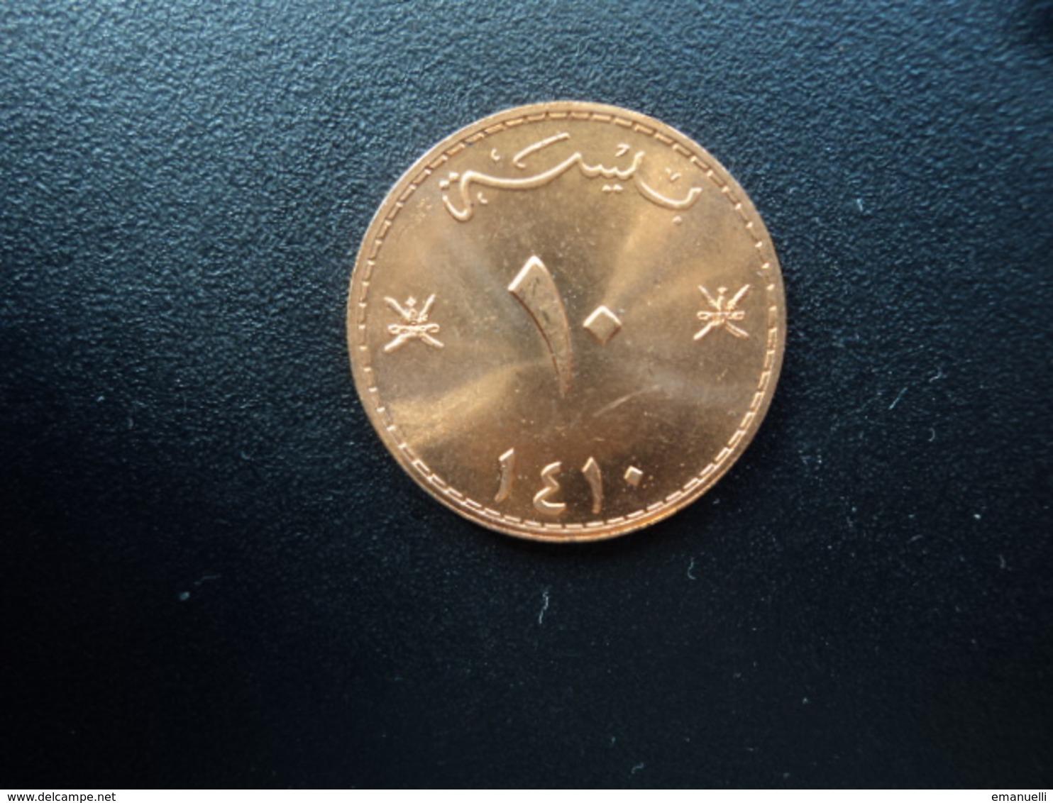 OMAN : 10 BAISA   1410 (1989)   KM 52    Non Circulé - Oman