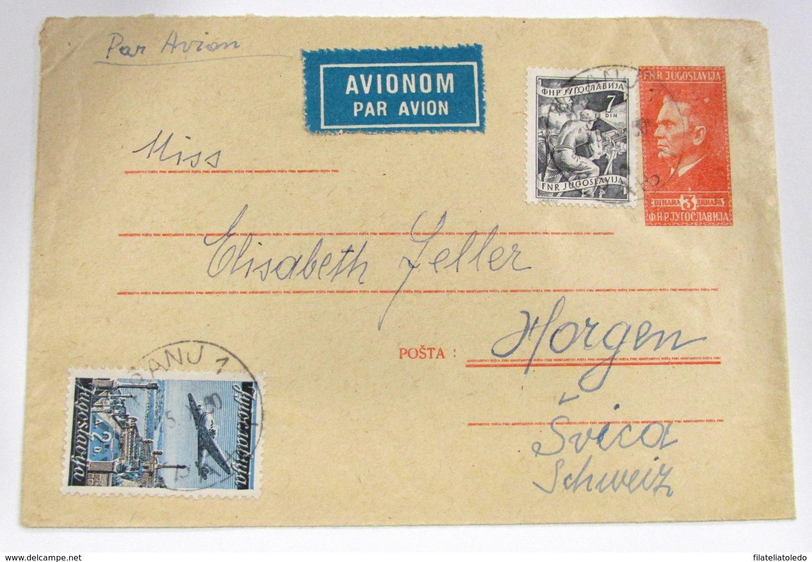 Yugoslavia 556A+Aéreo 19 - Lettres & Documents