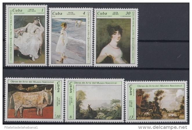 1978.101 CUBA 1978 MNH. Ed.2441-46. OBRAS DEL MUSEO NACIONAL DE BELLAS ARTES ART. - Cuba