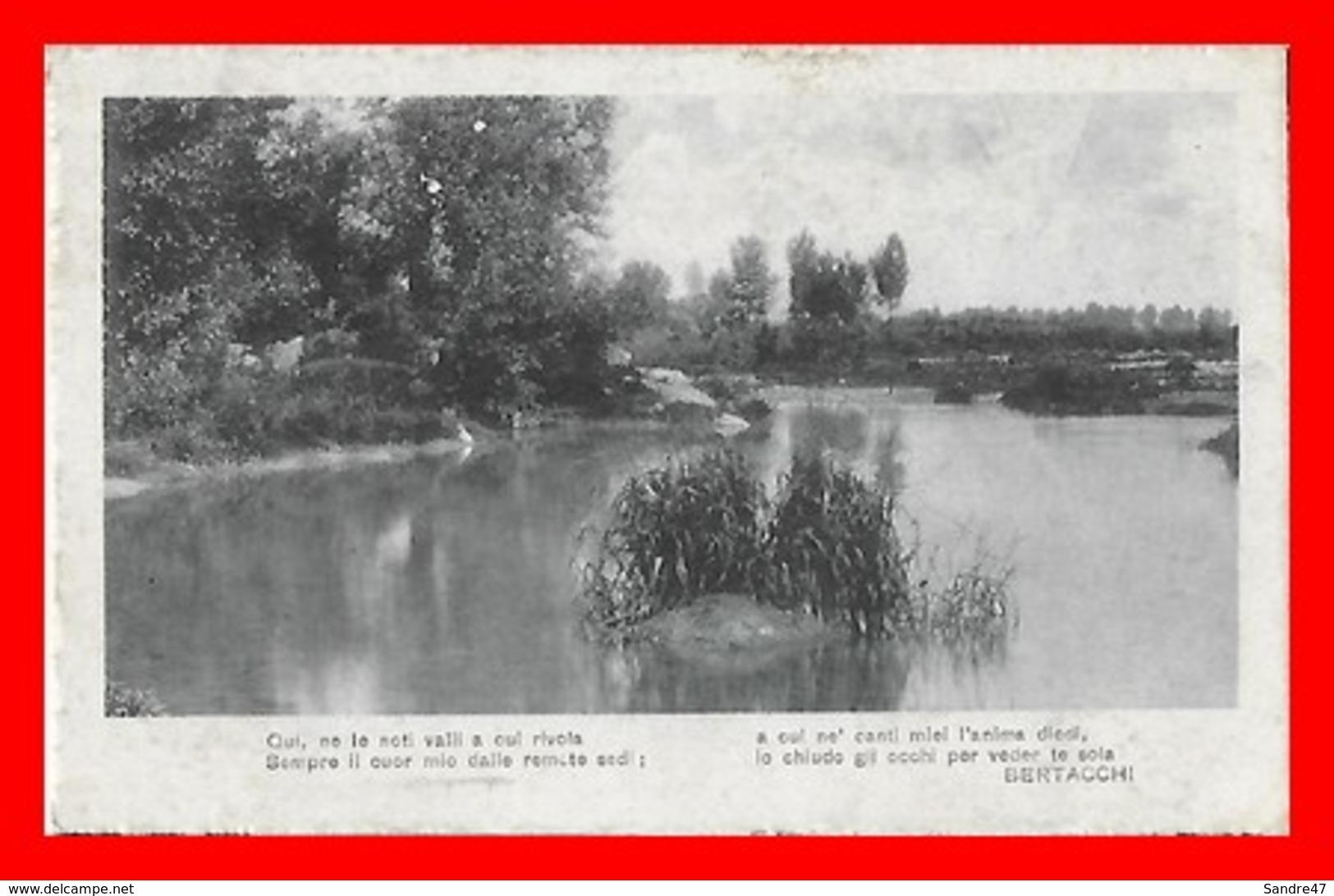 CPA POETE.  Paysage. Poème De Giovanni Bertacchi...I0858 - Ecrivains
