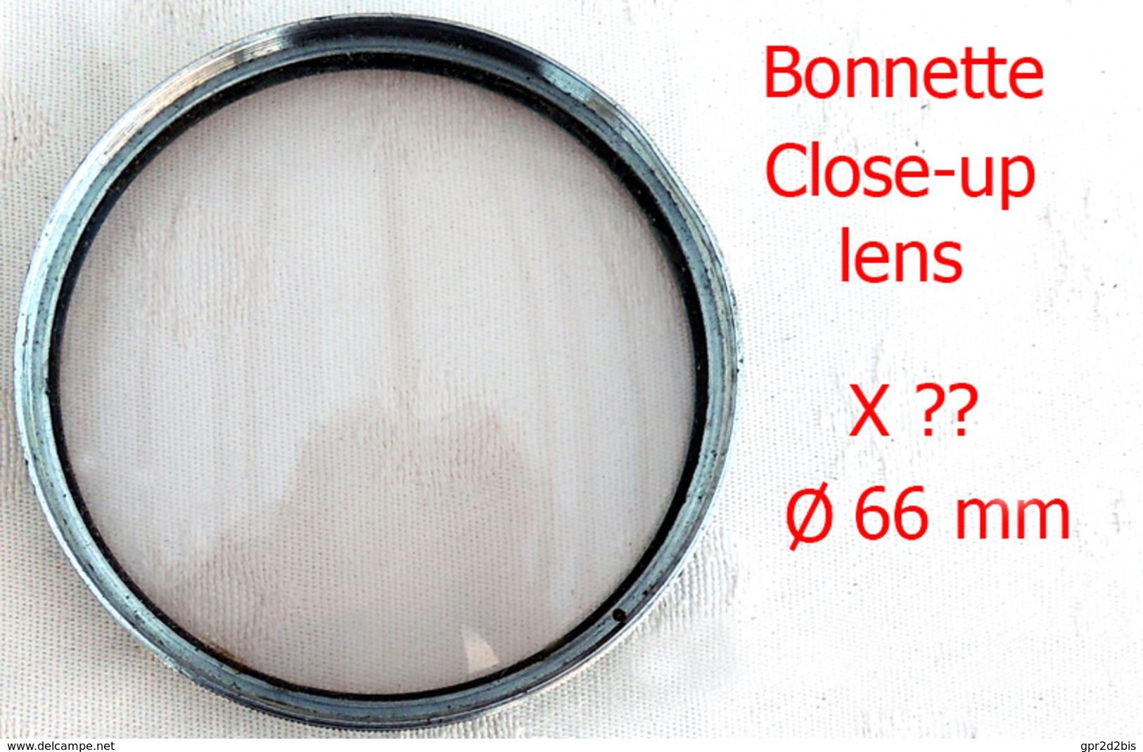 Ancienne & Grande Bonnette Close-up Lens Diam 66mm Grossissement ? Pour Macrophotographie - Linsen