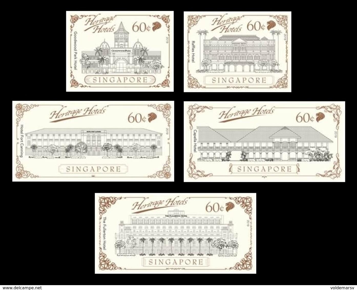 Singapore 2019 Mih. 2603/07 Heritage Hotels (self-adhesive) MNH ** - Singapour (1959-...)
