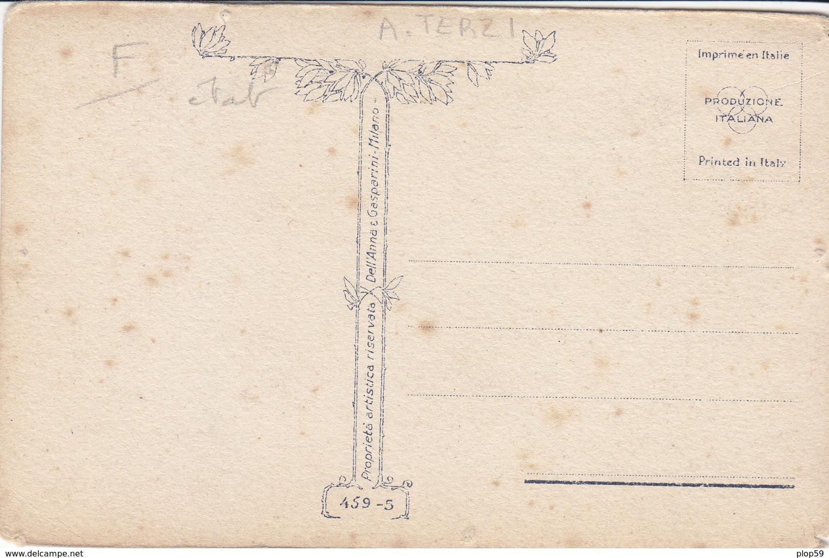 Cpa 2 Scans Illustrateur A Terzi Femme Art Nouveau - Künstlerkarten