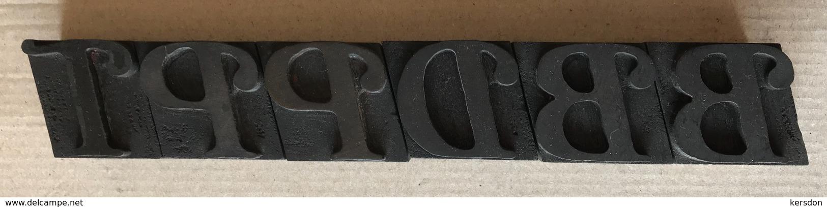 Lettres Typographiques Spéciales En Bois (6) De 35 Mm De Haut - Technical