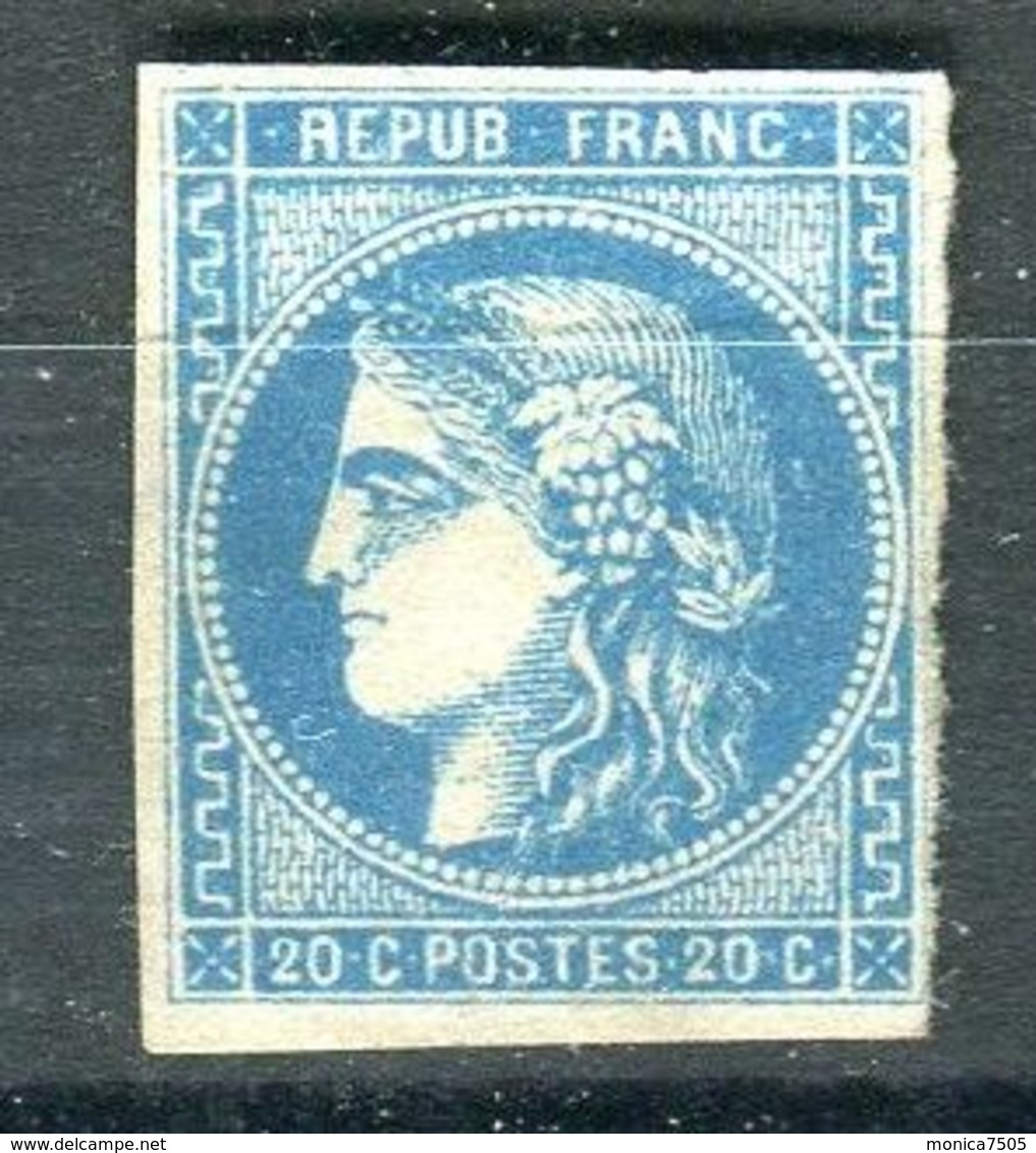 FRANCE ( BORDEAUX ) Y&T  N° 44 OU 45 OU 46 ? TIMBRE  NEUF  SANS  GOMME  AVEC  TRACE  DE  CHARNIERE . - 1870 Bordeaux Printing