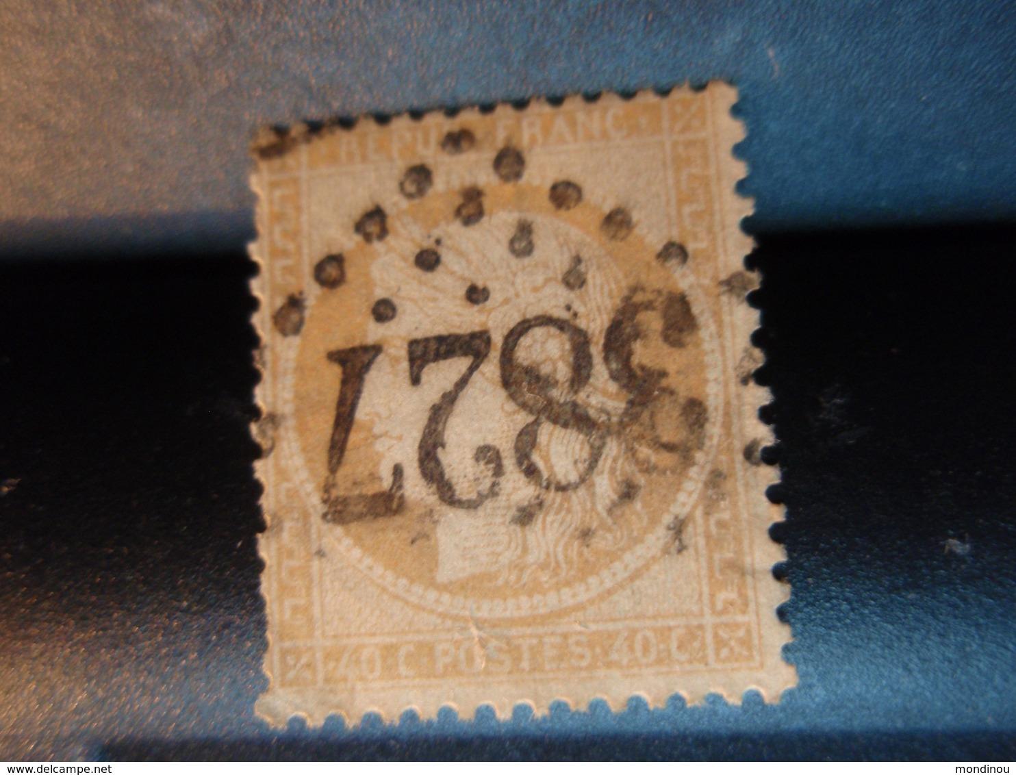 TIMBRE TYPE CERES 40C ORANGE, TIMBRE OBLITERE  Numéroté 3827 -  Couleur Claire - 1870 Siege Of Paris