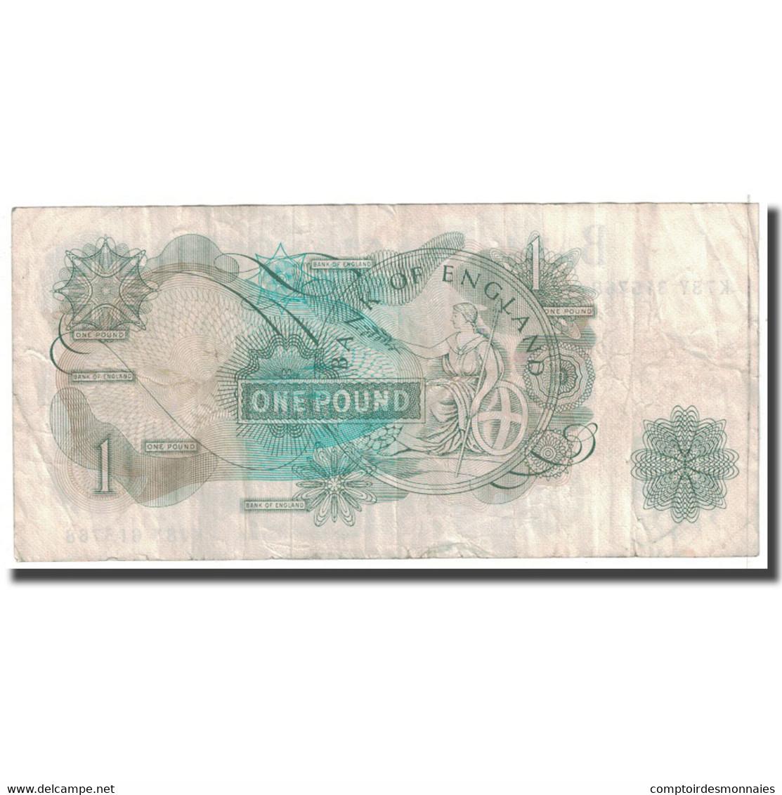 Billet, Grande-Bretagne, 1 Pound, KM:374e, TB - 1952-… : Elizabeth II