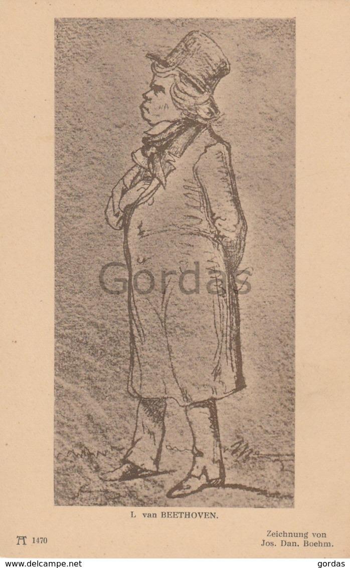 Ludwig Van Beerhoven - Composer - Zeichnung Jos. Dan. Boehm - Chanteurs & Musiciens