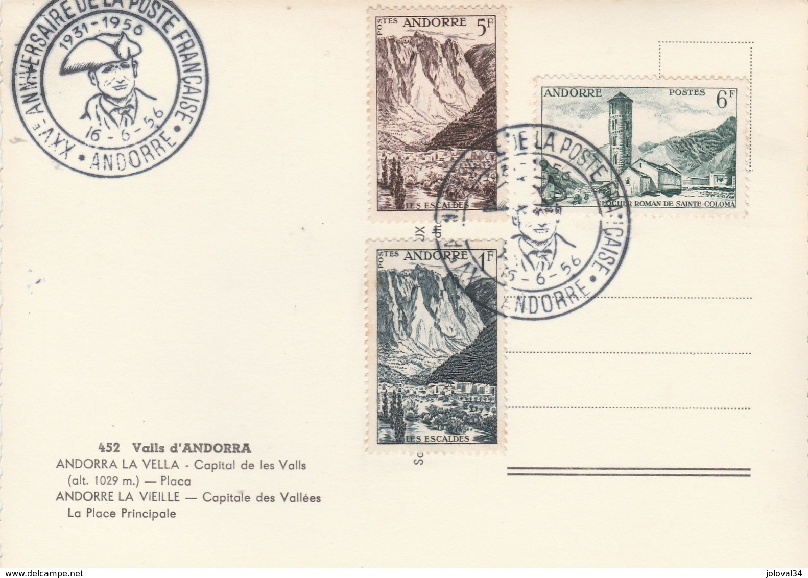 Andorre Andorra Capitale Des Vallées - Voitures -  Avec Timbres Et Cachet Anniversaire - APA 452 - Andorre