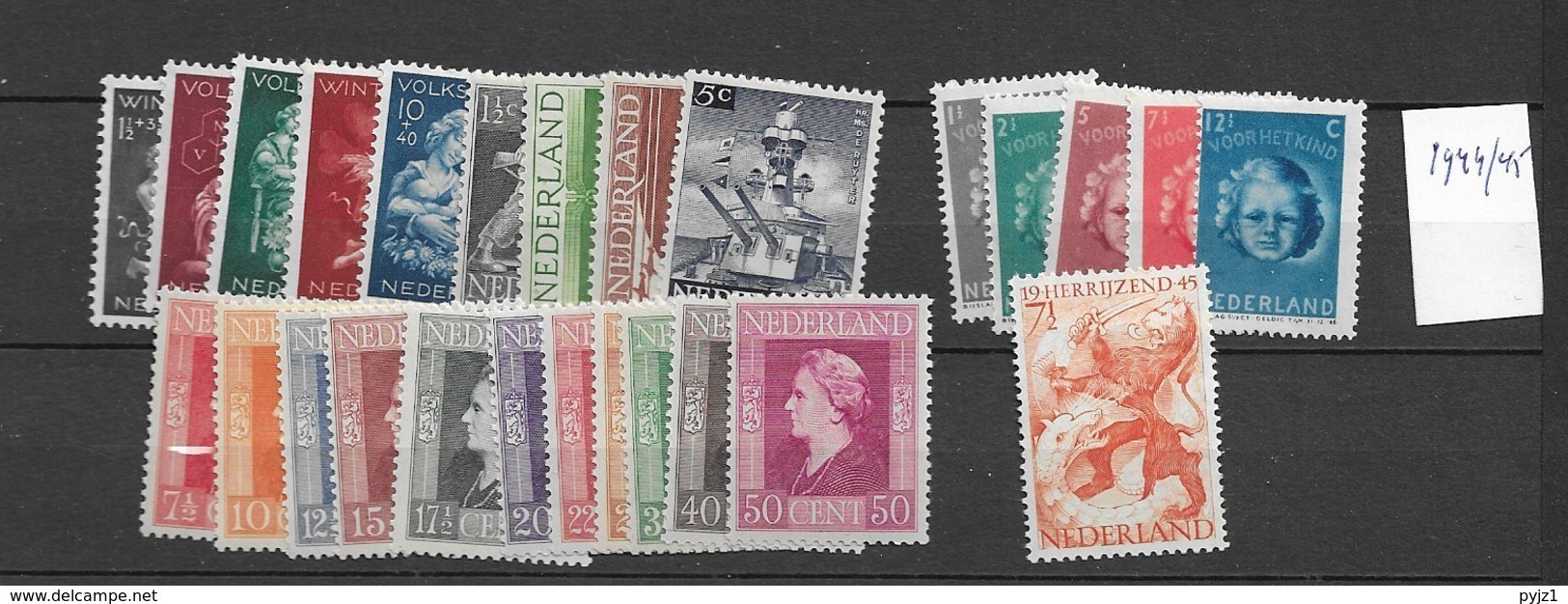 1944-45 MNH  Netherlands,complete According To NVPH, Postfris** - Pays-Bas