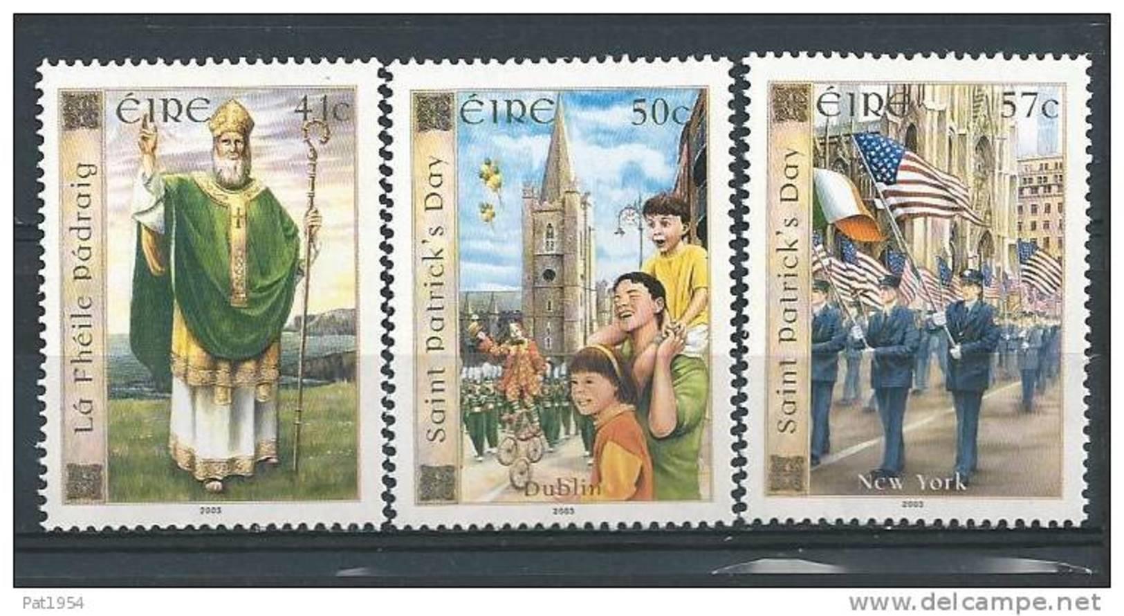 Irlande 2003 N°1493/1495 Neufs ** Saint Patrick - 1949-... République D'Irlande