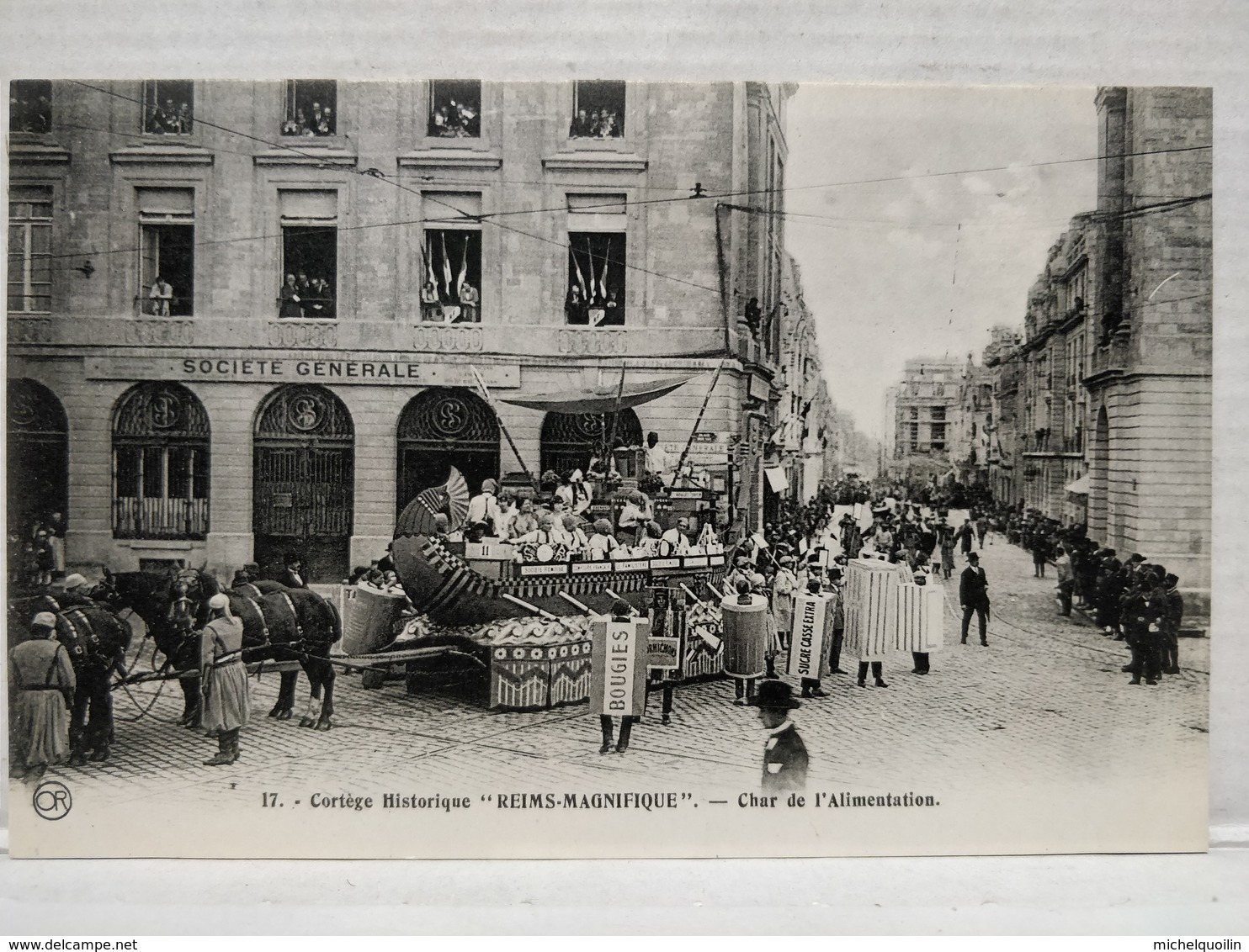 Cortège Historique. Reims Magnifique. Char De L'Alimentation - Reims