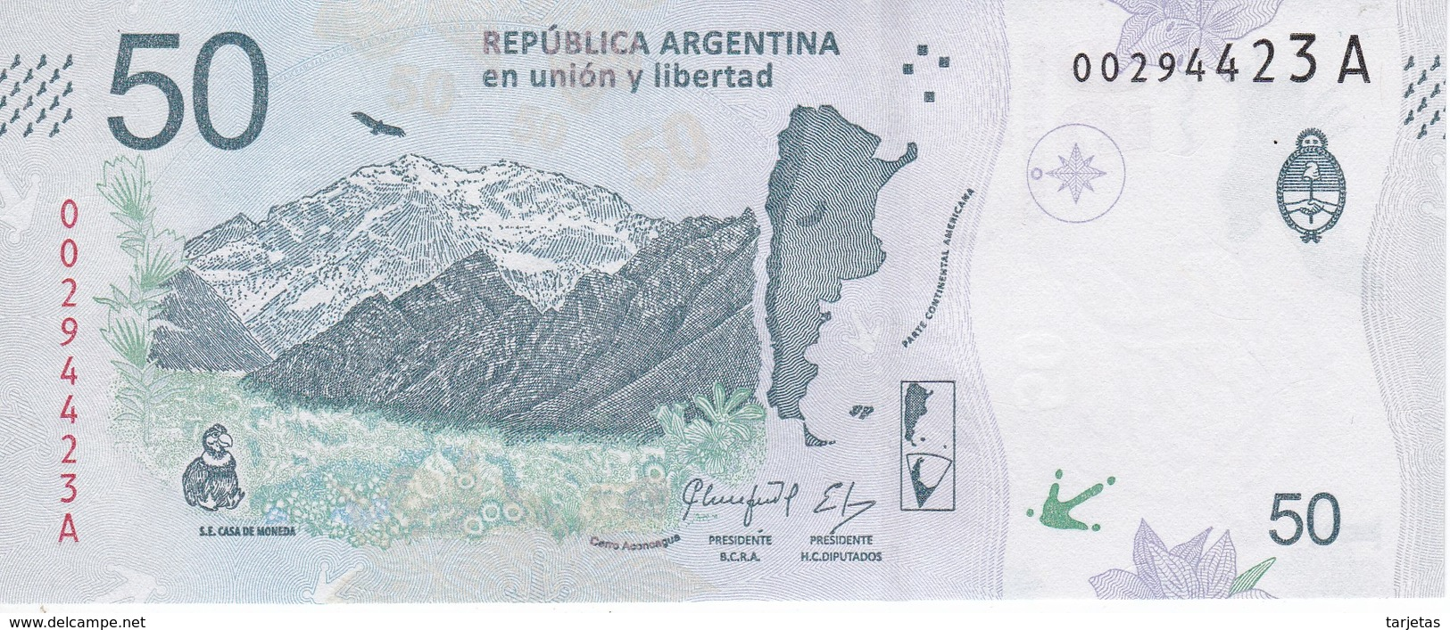 BILLETE DE ARGENTINA DE 50 PESOS DE UN CONDOR SIN CIRCULAR - UNCIRCULATED (BANKNOTE) - Argentina