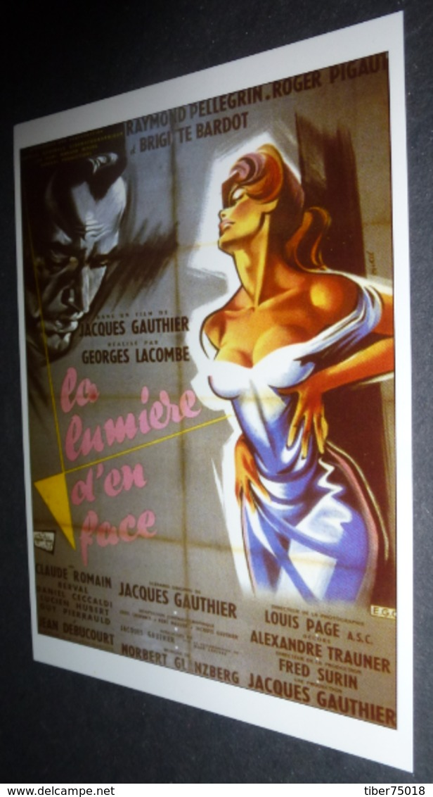 Carte Postale (cinéma Affiche Film) La Lumière D'en Face (Brigitte Bardot) - Affiches Sur Carte