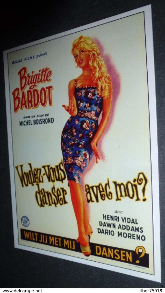 Carte Postale (cinéma Affiche Film) Voulez-vous Danser Avec Moi ? (Brigitte Bardot) - Affiches Sur Carte