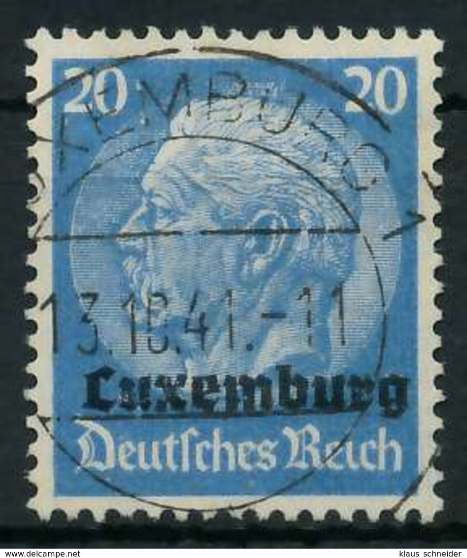 BES. 2WK LUXEMBURG Nr 9 Zentrisch Gestempelt X889FDA - Besetzungen 1938-45