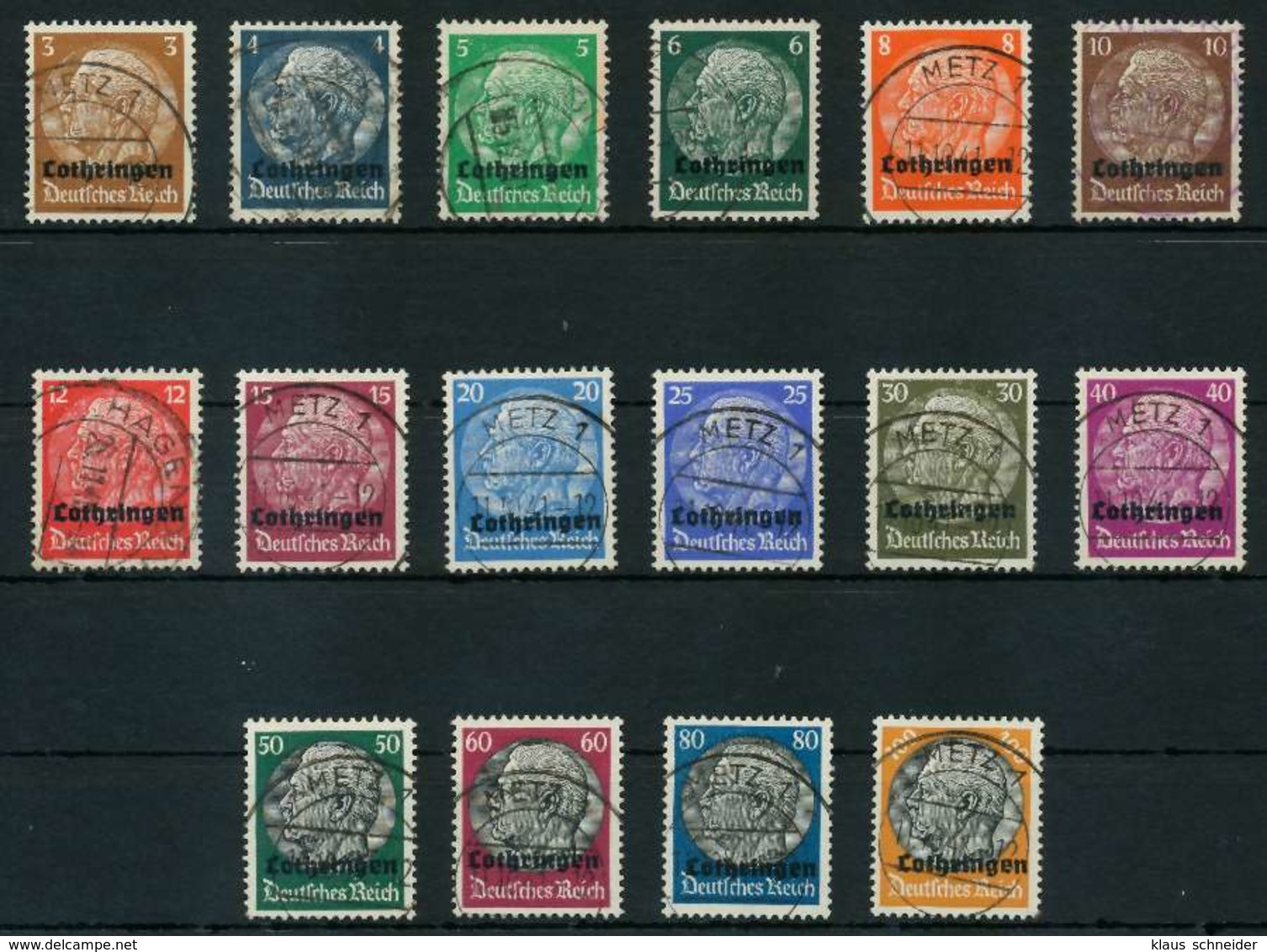 BES. 2WK LOTHRINGEN Nr 1-16 Gestempelt X88A05A - Besetzungen 1938-45