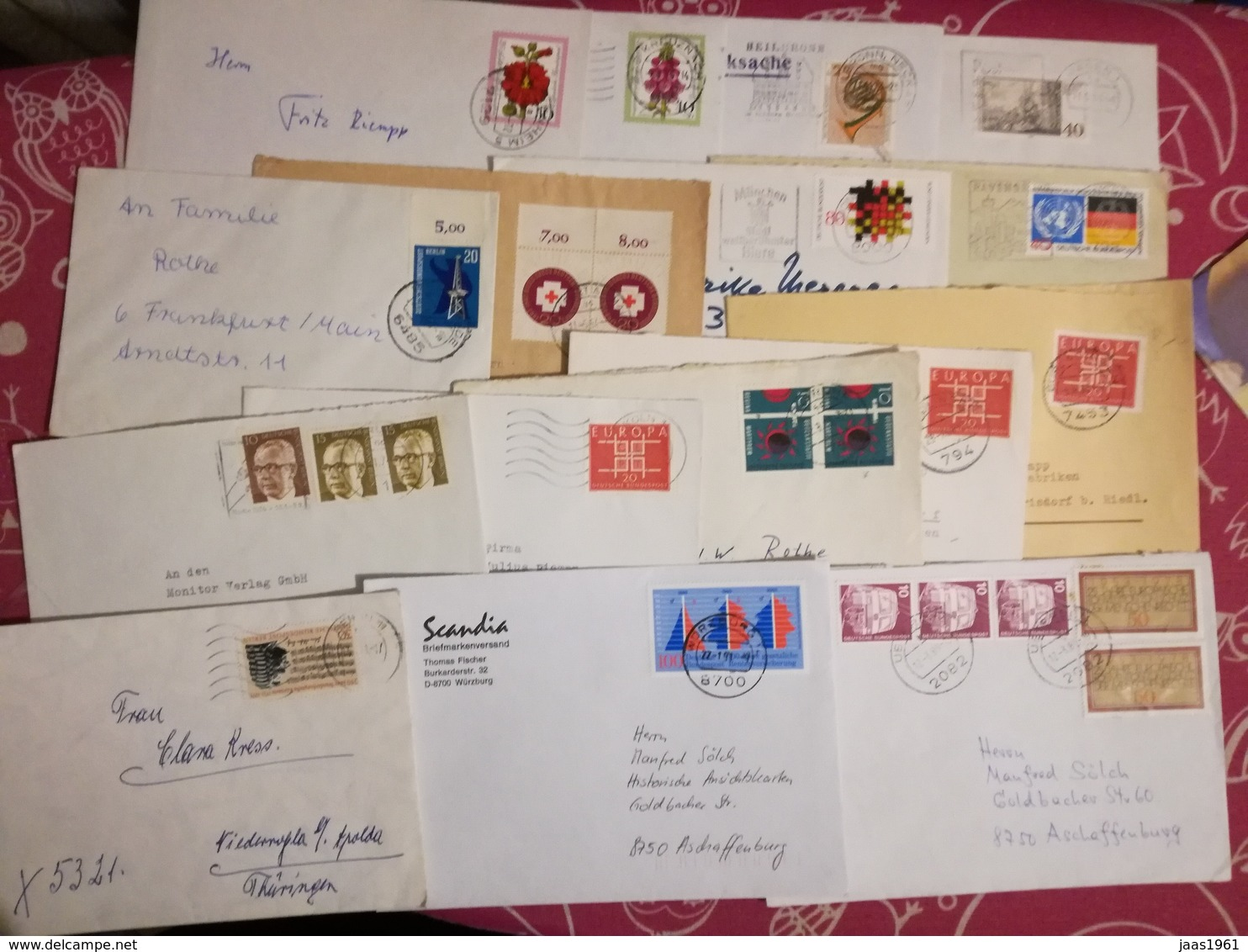 LOT 50 LETTERS AND DOCUMENTS. WORLDWIDE - Mezclas (max 999 Sellos)