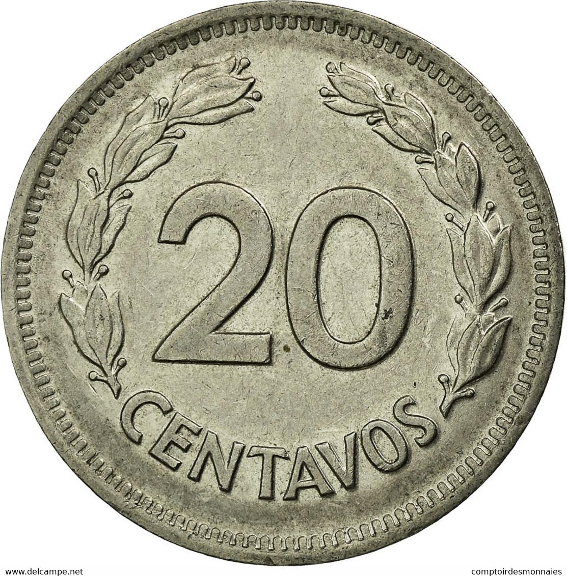 Monnaie, Équateur, 20 Centavos, 1978, TTB, Nickel Plated Steel, KM:77.2a - Ecuador