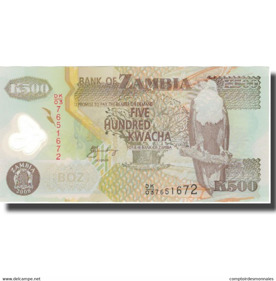 Billet, Zambie, 500 Kwacha, 2003-11, KM:43f, NEUF - Zambie
