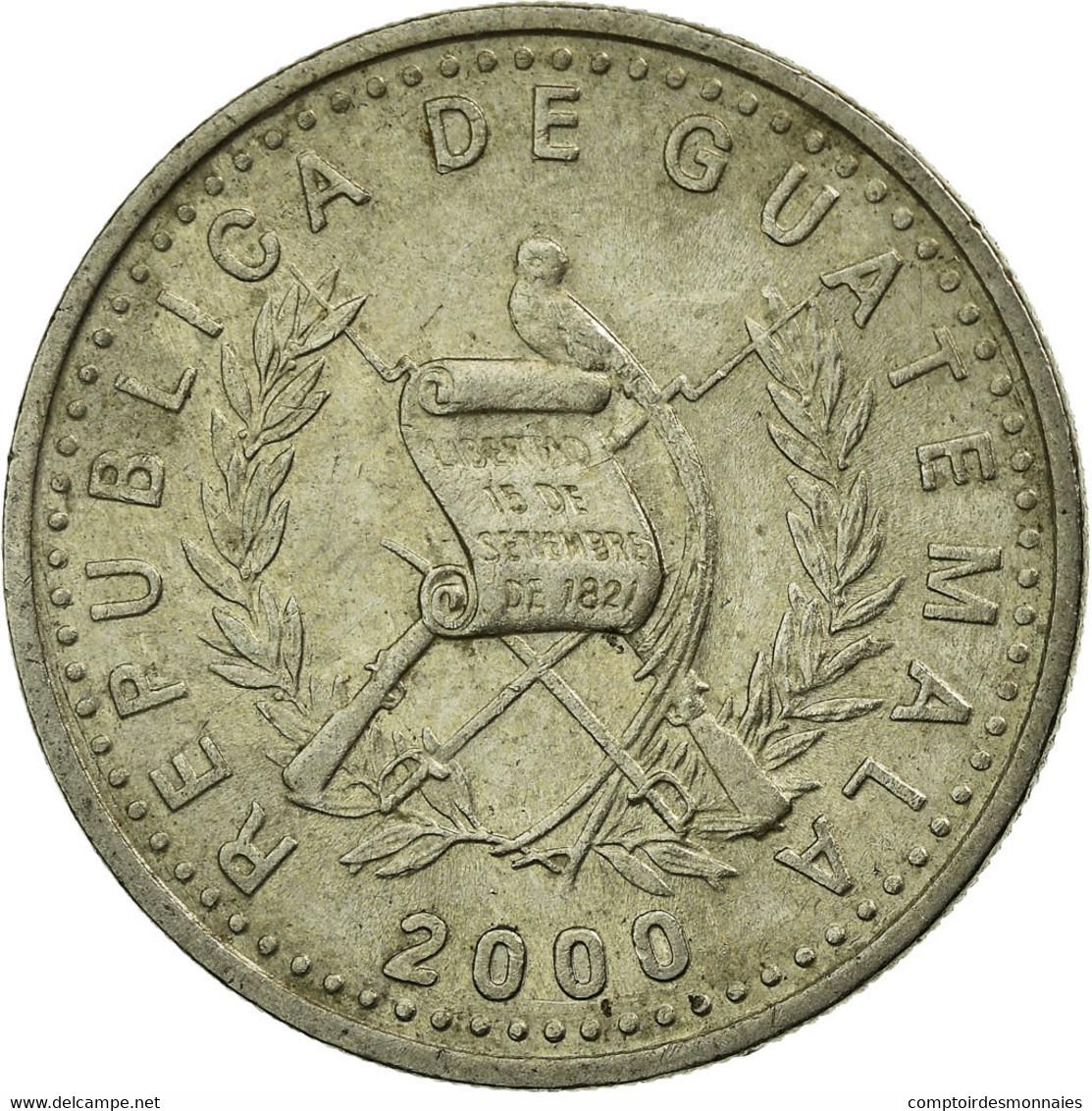 Monnaie, Guatemala, 10 Centavos, 2000, TTB, Copper-nickel, KM:277.6 - Guatemala