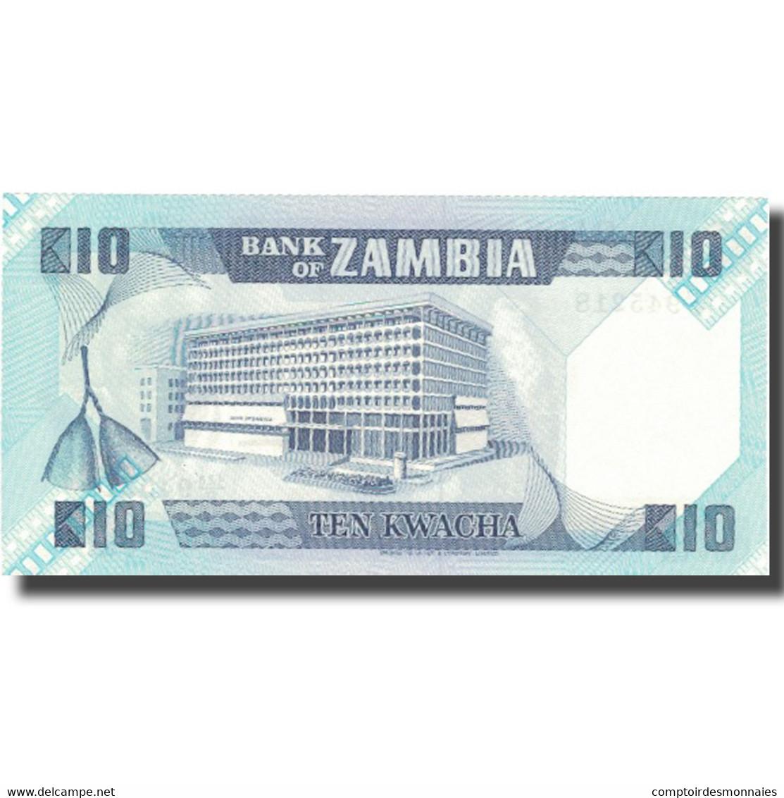 Billet, Zambie, 10 Kwacha, Undated (1980-88), KM:26e, NEUF - Zambie