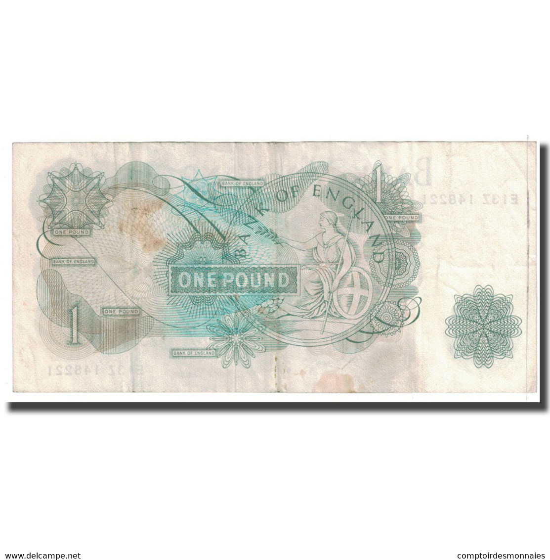 Billet, Grande-Bretagne, 1 Pound, KM:374e, TTB - 1 Pound