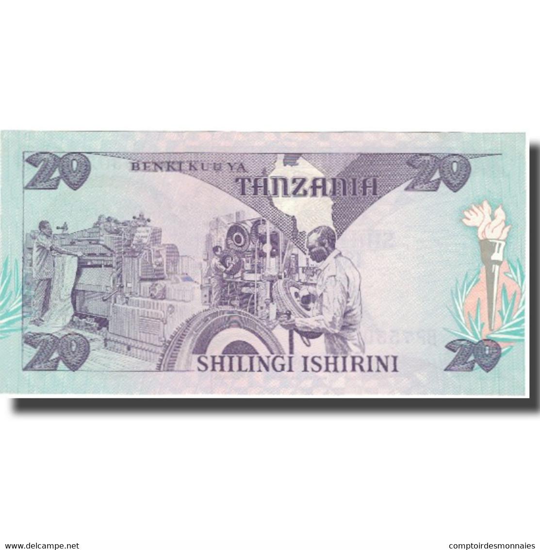 Billet, Tanzania, 20 Shilingi, Undated (1985), KM:9, NEUF - Tanzania