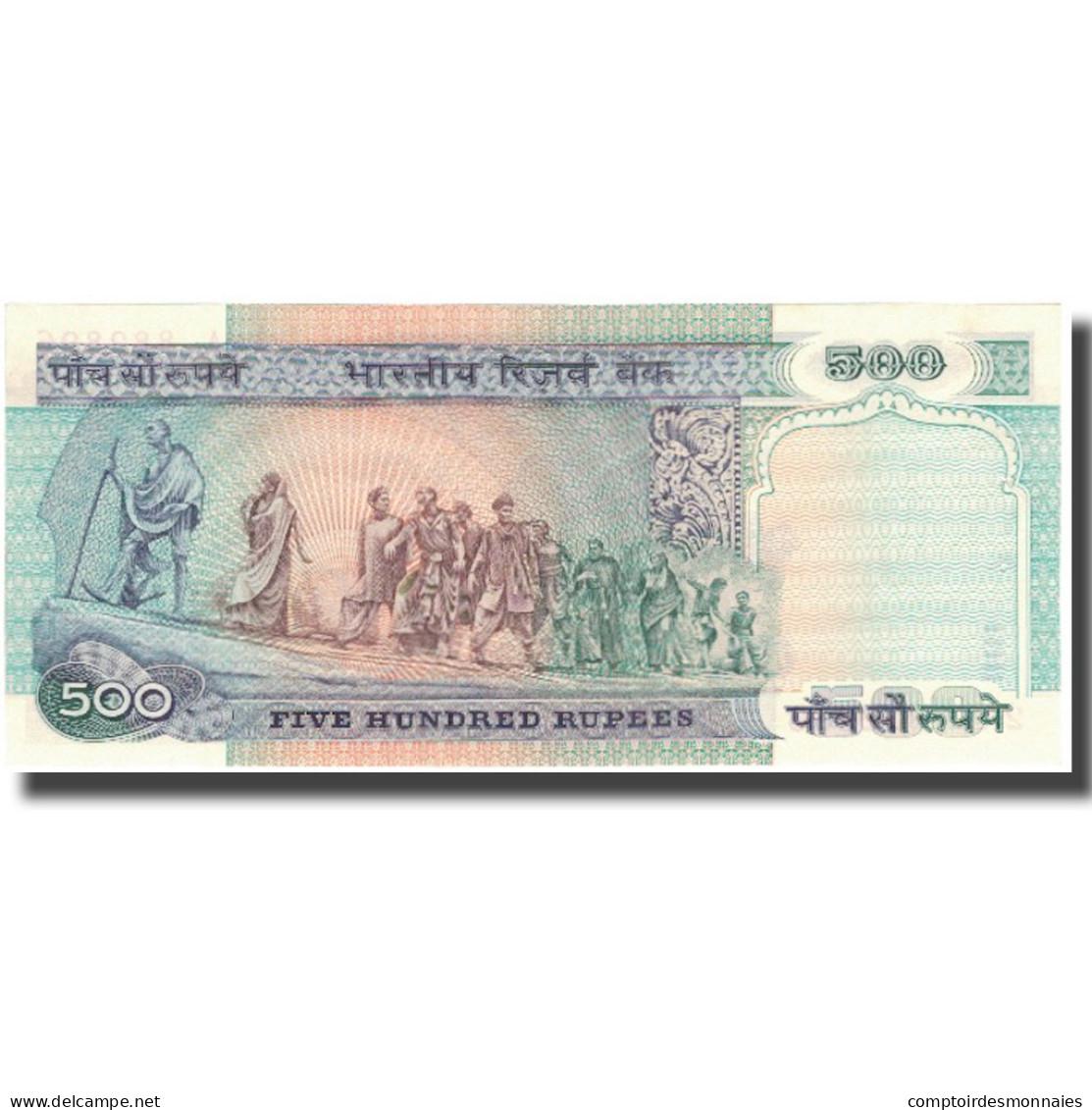 Billet, Inde, 500 Rupees, Undated (1987), KM:87b, SPL - India