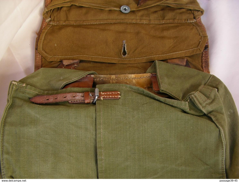 WW2 ALLEMAND SAC A DOS PEAU DE VACHE TYPE ALLEMAND TORNISTER - 1939-45