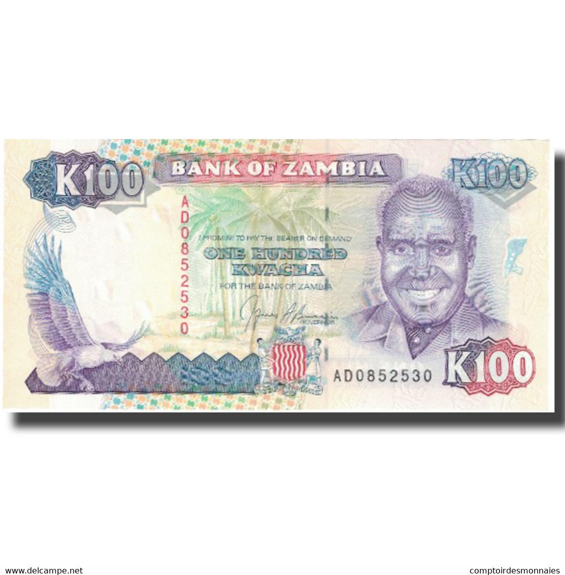 Billet, Zambie, 100 Kwacha, Undated (1991), KM:34a, NEUF - Zambie
