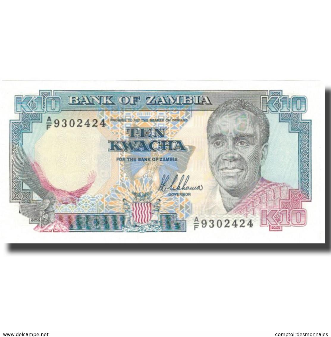 Billet, Zambie, 10 Kwacha, Undated (1991), KM:31a, SPL - Zambie