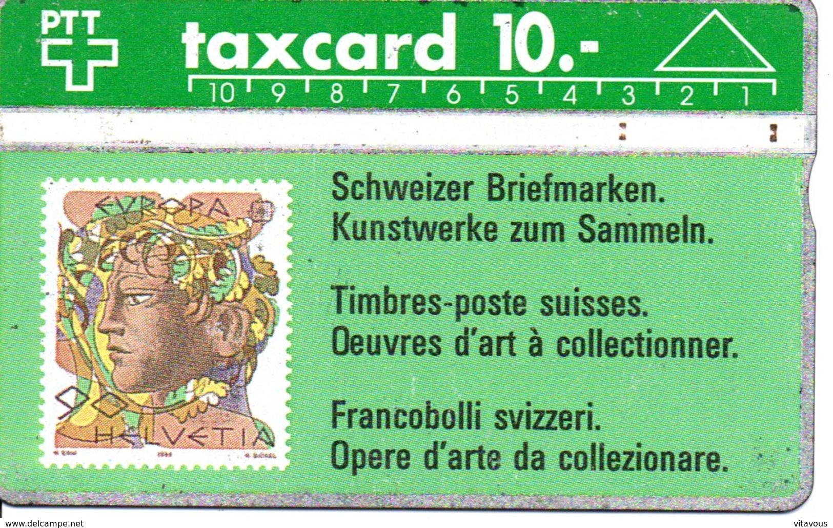 Stamp Timbre Oeuves D'art Télécarte Suisse Taxcard Phonecard  (G 105) - Timbres & Monnaies