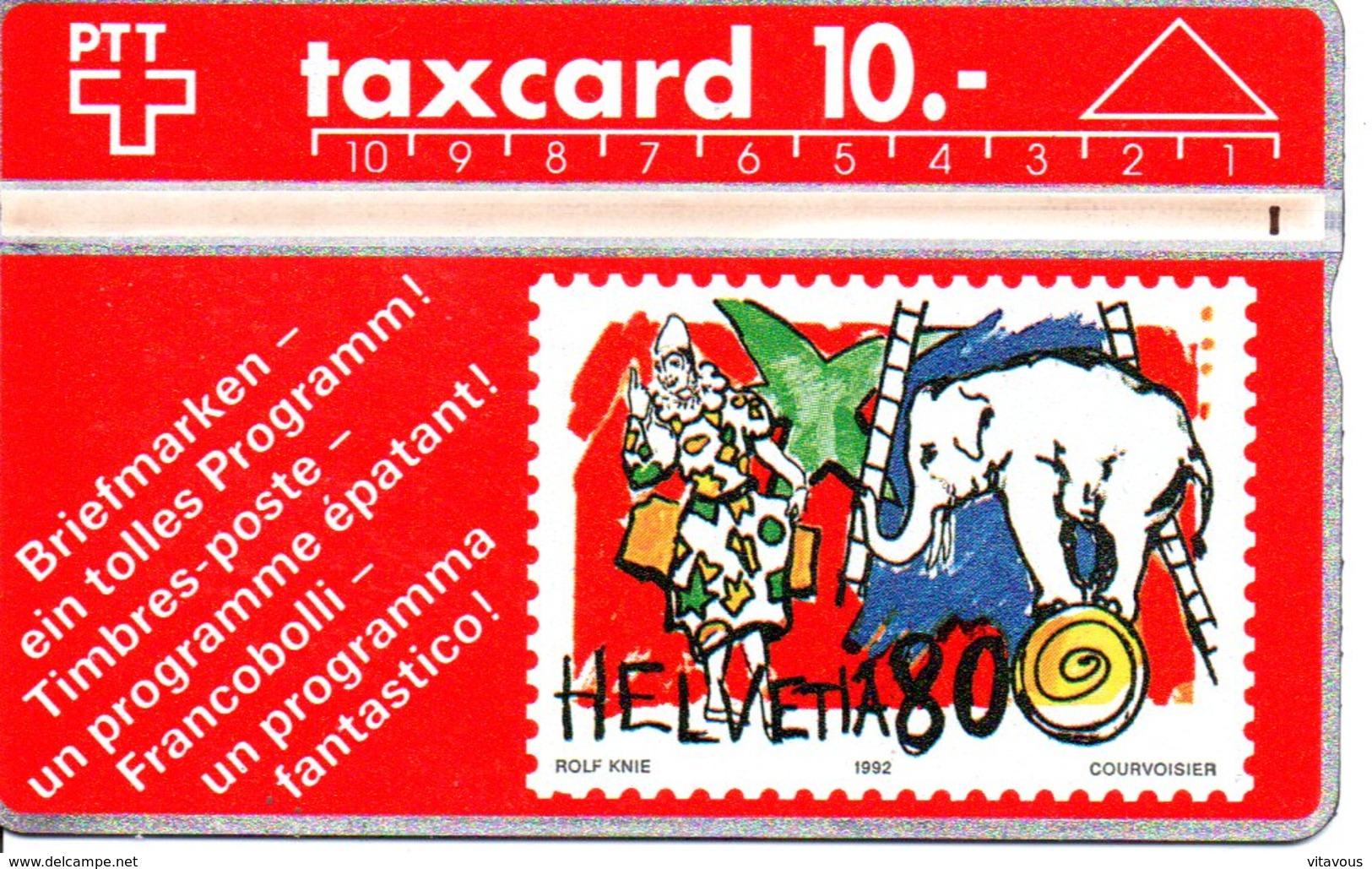 Stamp Timbre éléphant Olefant Elephant  Cirque Télécarte Suisse Taxcard Phonecard  (G 106 ) - Timbres & Monnaies