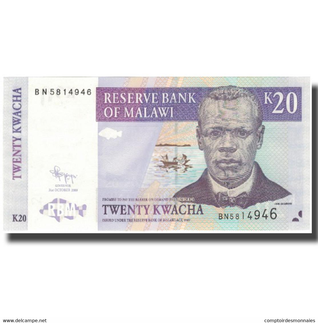 Billet, Malawi, 20 Kwacha, 2009, 2009-10-31, KM:52d, NEUF - Malawi