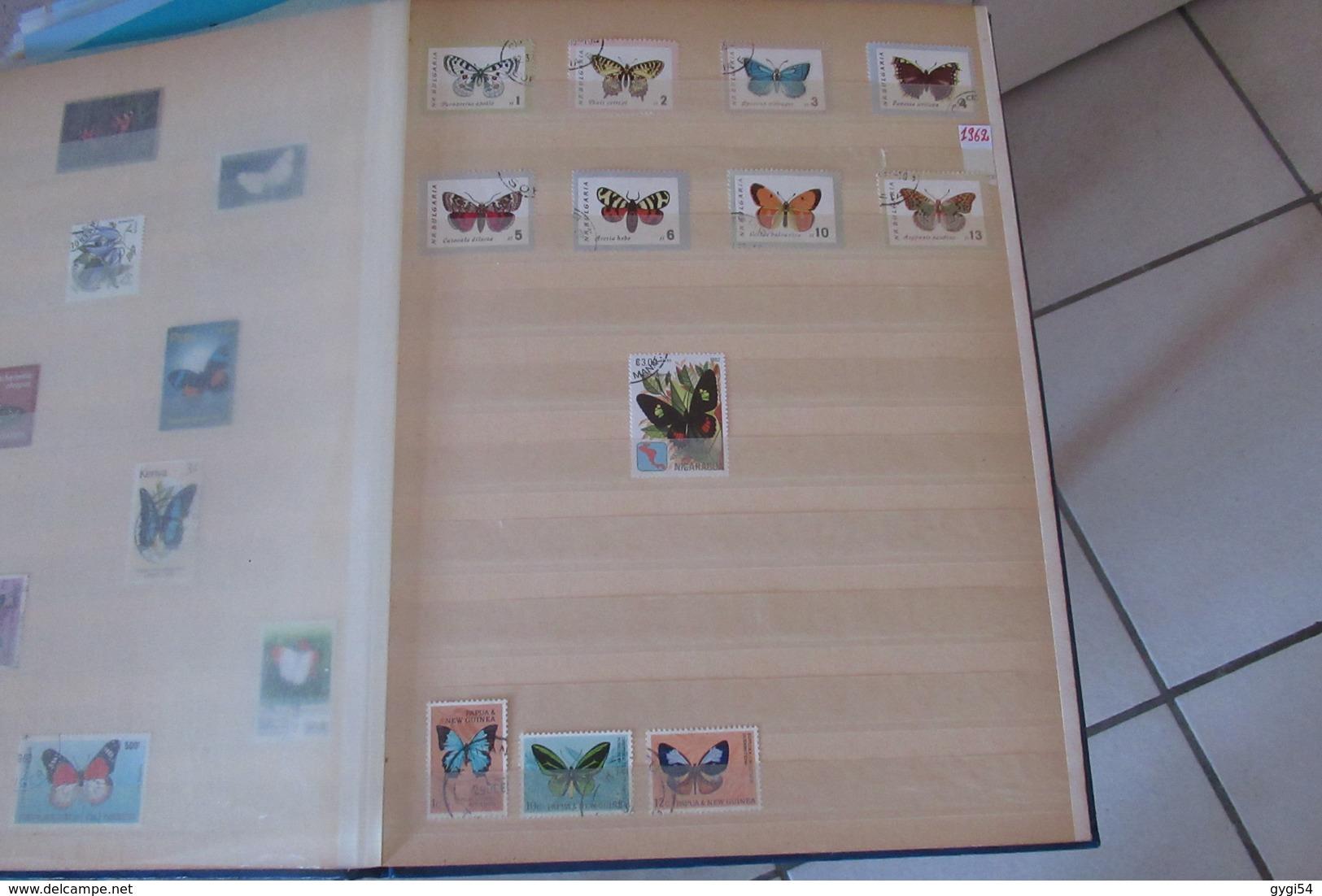Thèmes Volatiles, Papillons,  Petit Lot Pays Bas - Timbres