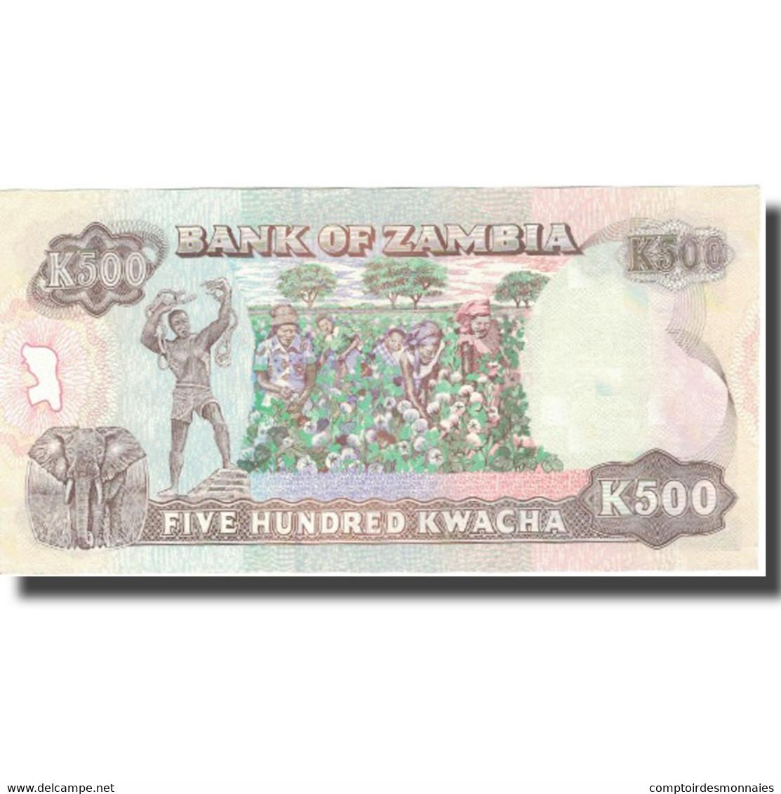 Billet, Zambie, 500 Kwacha, Undated (1991), KM:35s, NEUF - Zambie