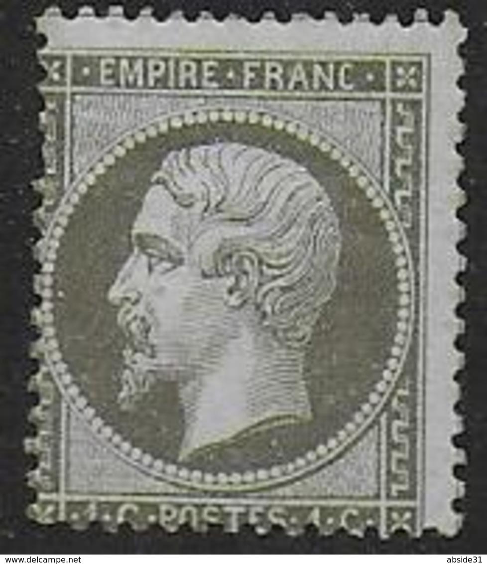 France -  Napoléon  N° 19 *  - Cote : 250 € - 1862 Napoleon III