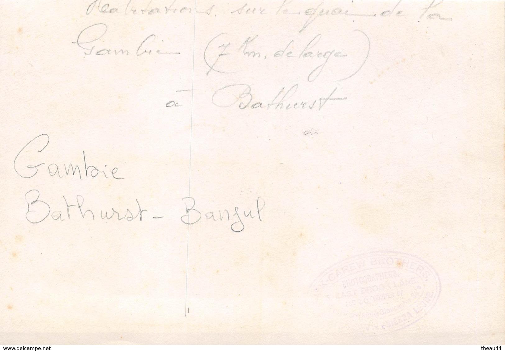 ¤¤  -  GAMBIE   -  BATHURST  -  BANJUL  - Cliché Albuminé D' Habitations Sur Les Quais  -  Voir Description    -  ¤¤ - Gambie
