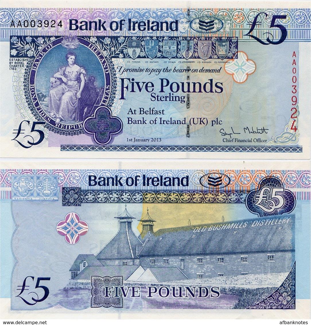 NORTHERN IRELAND - BI       5 Pounds       P-86       1.1.2013       UNC - [ 2] Irlanda Del Norte