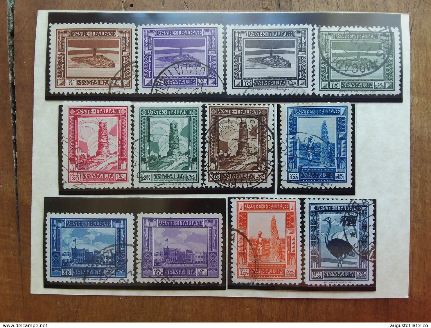 COLONIE ITALIANE - SOMALIA 1932 - Pittorica Dent. 12 Incompleta - Timbrati + Spedizione Raccomandata - Somalia